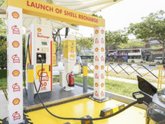 Shell Launches Singapore's First Electric Vehicle Charger at Service Stations