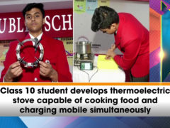 Student invents thermo-electric stove capable of cooking food and charging mobile simultaneously